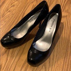 Madden Girl black patent heels